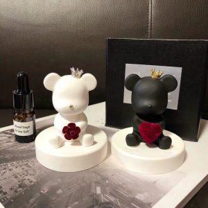 Ceramic aroma stone lovel bear